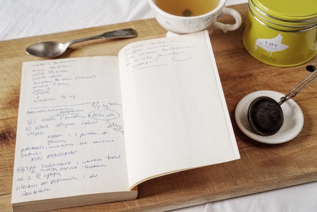 Książka poświęcona kuchni - najlepsze miejsce na zanotowania przepisu na ciasto truskawkowe!
