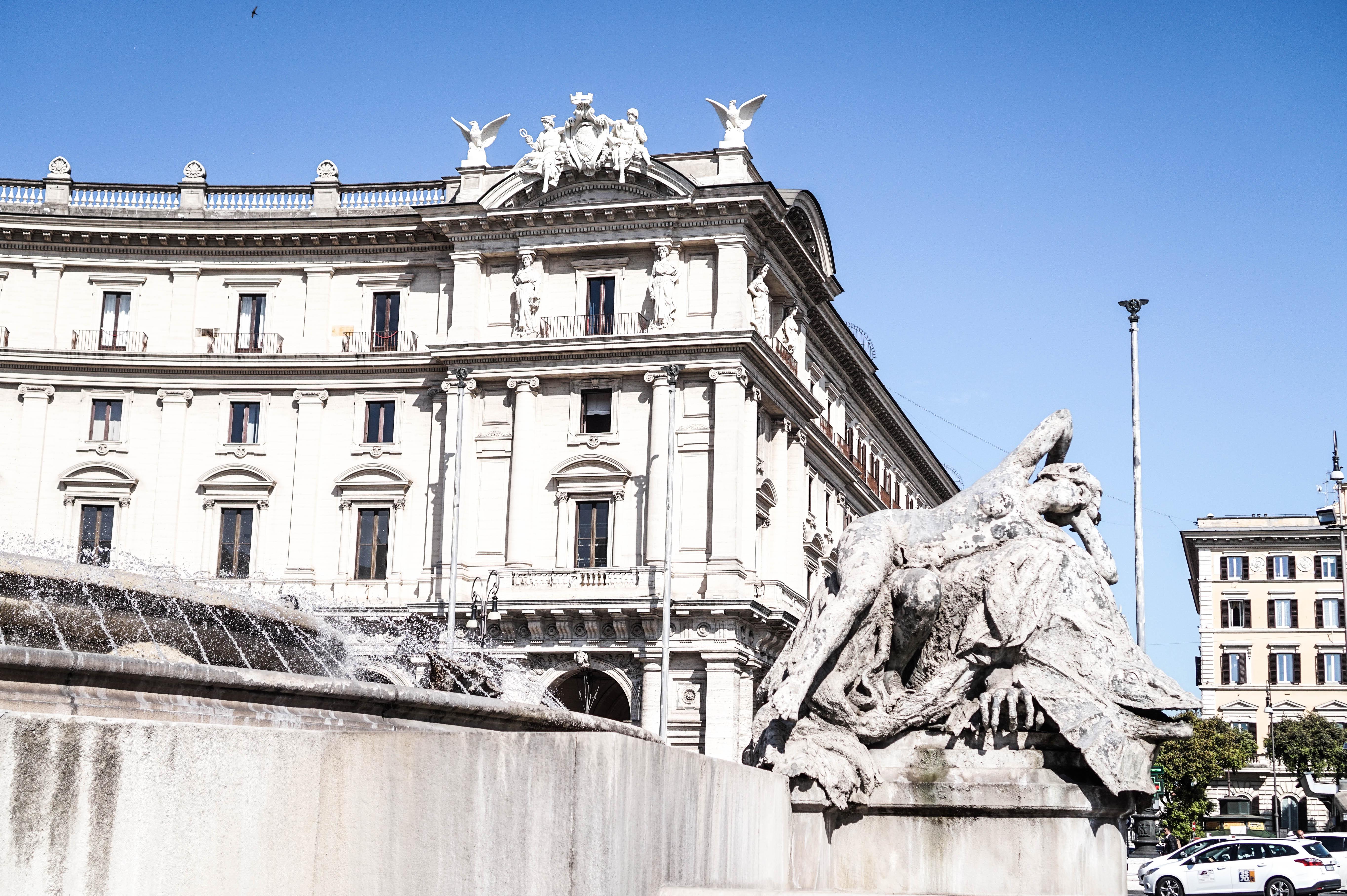 Piazza della Reppublica - czy Rzym, czy Paryż musimy mieszkać w okolicy ;)